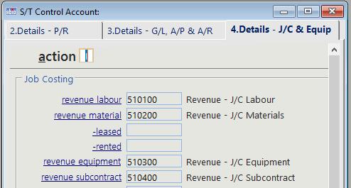 job cost control accounts