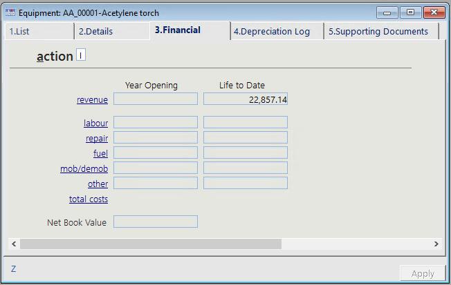 Equipment Financials