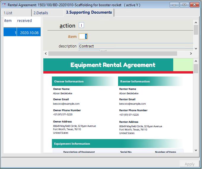 electronic rental agreement